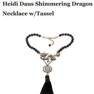 Heidi Daus crystal dragon necklace